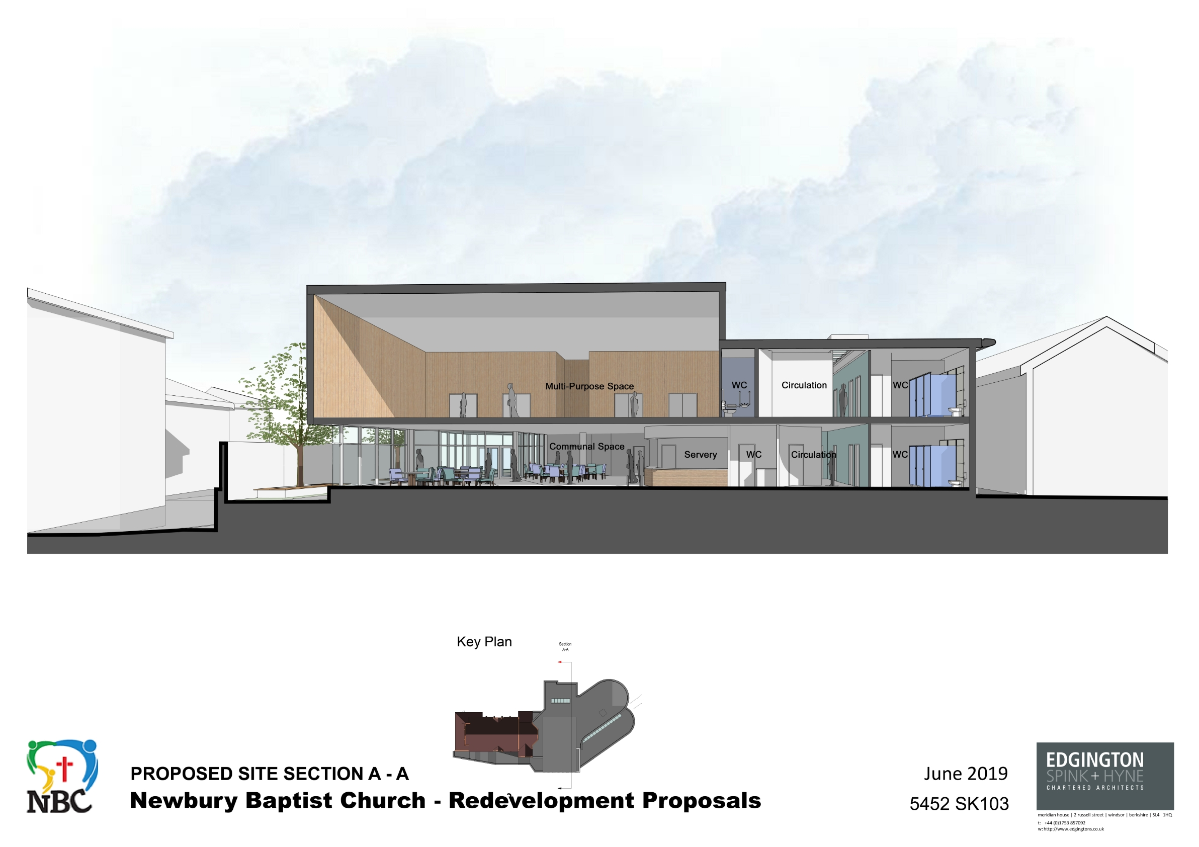 5452-Proposed Site Section A-A